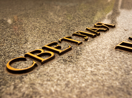 Итальянская бронза: буквы на памятник