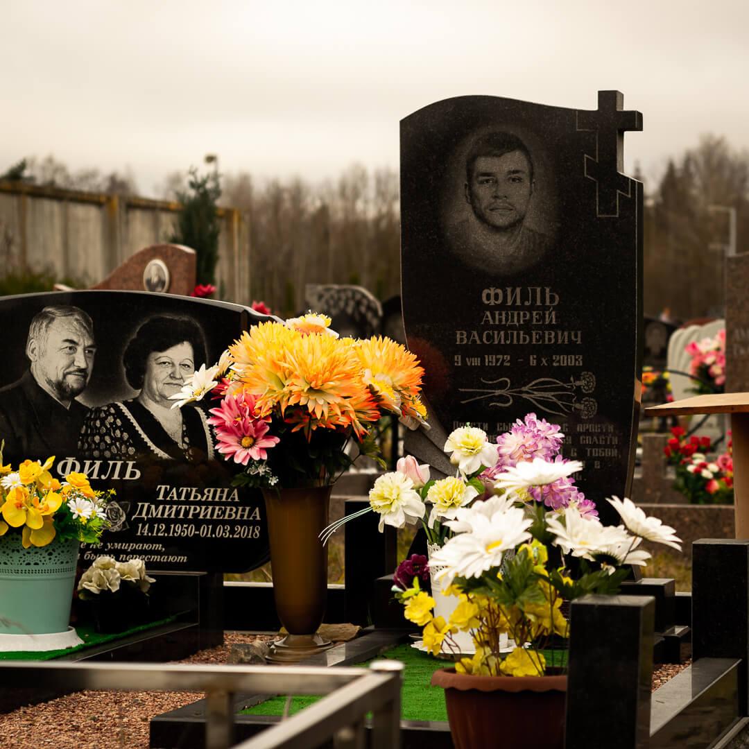 Бюджетные памятники на могиле
