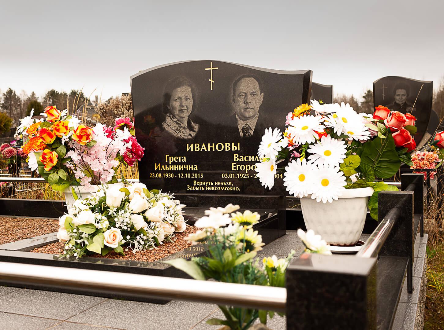 Памятник на Северном кладбище в Минске от нашей компании