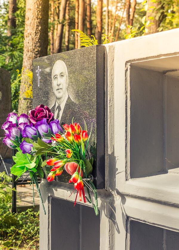 Пример фото колумбария на Восточном кладбище в Минске