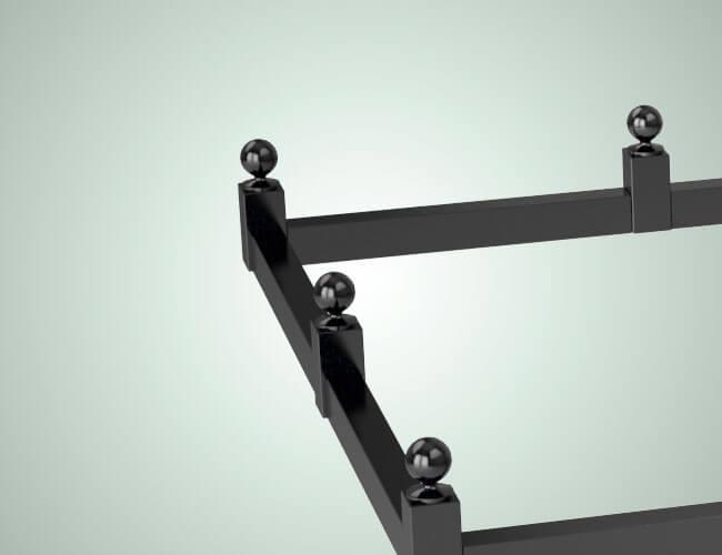 Предлагаем купить оградки всех типов и размеров с гарантией и установкой