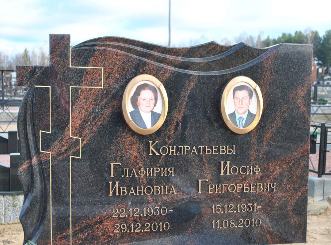 Памятник с крестом на могилу из гранита